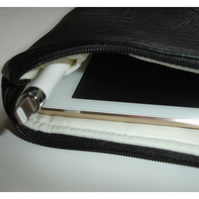 iPad Mini Tablet Case Black Faux Leather With iPencil Holder