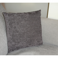 "16"" Cushion Pillow Cover Grey Chenille 16x16 40cm Square"