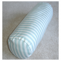 "Bolster Cushion Cover 16""x6"" Round Cylinder Neck Roll Pillow Duck Egg Stripes"