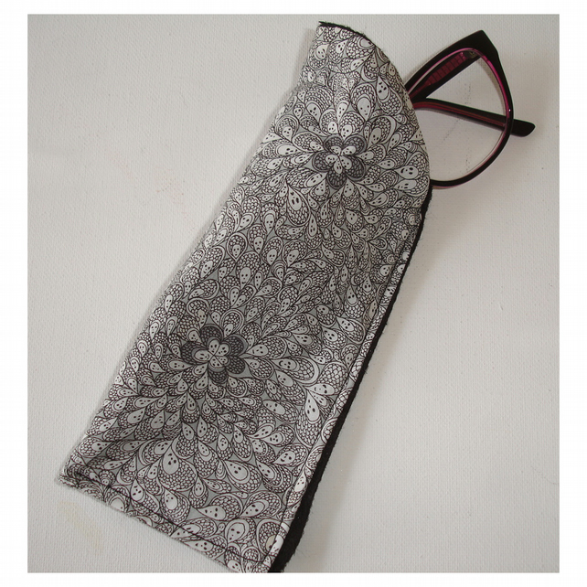 Glasses Case Liberty Cranford Grayson Perry Black and White Spectacles Sleeve
