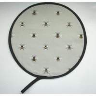 Aga Hob Lid Mat Pad Hat Round Cover With Loop Sophie Allport Bees