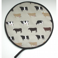 Aga Hob Lid Mat Pad Hat Round Cover With Loop Sophie Allport Cows
