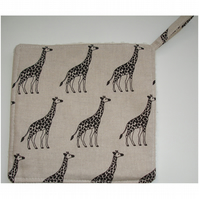 Giraffe Pot Holder Potholder Kitchen Grab Mat Pad Giraffes