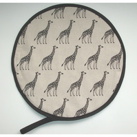 Aga Hob Lid Mat Pad Hat Round Cover With Loop Surface Saver Giraffe