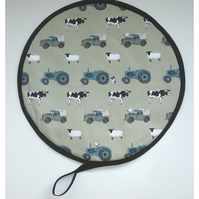 Aga Hob Lid Mat Pad Hat Round Cover With Loop Sophie Allport On The Farm