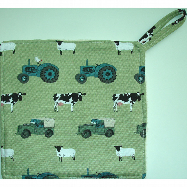 Sophie Allport On The Farm Pot Holder Potholder Kitchen Grab Mat Pad Cloths