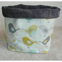 Storage Bin Basket - SMALL SIZE - Birds