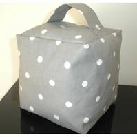 Door Stop Grey and White Polka Dot Spots