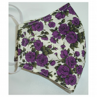 Face Mask Liberty Purple Roses