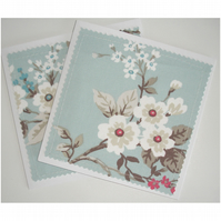 Blossom Blank Greetings Cards Notelets Pack of 2