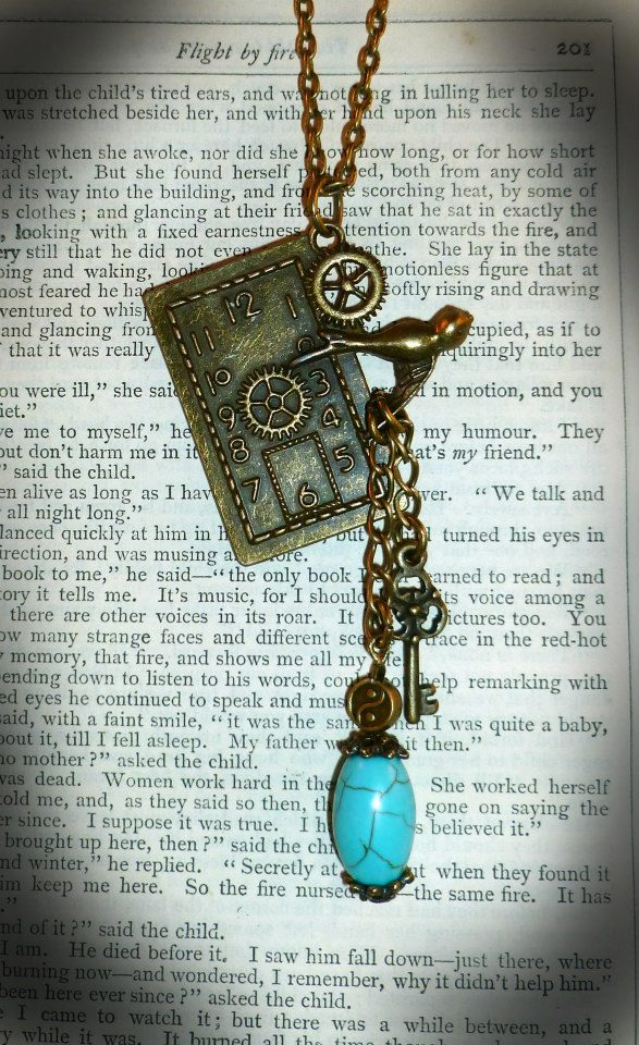 On the wings of Time Pendant -  (Only one pound Post and Packing on all items)
