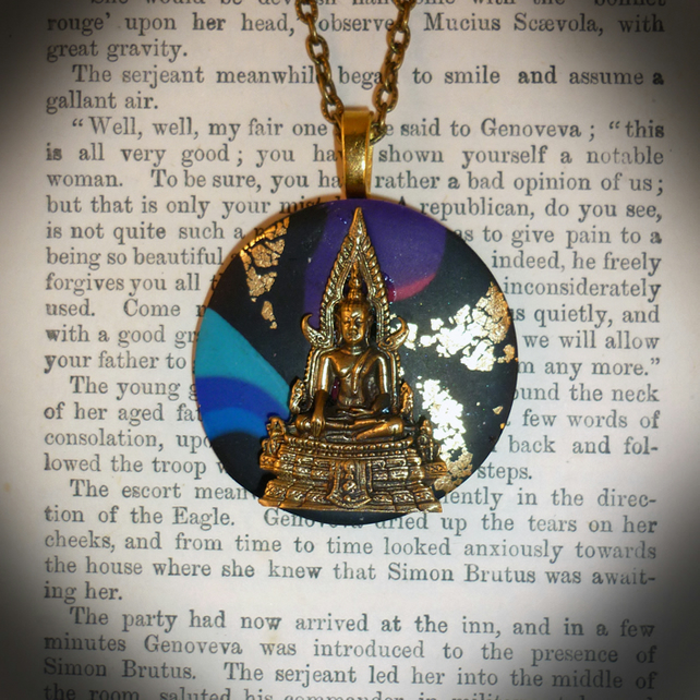 Inner Peace Buddha Pendant - (Only one pound Post and Packing on all items)