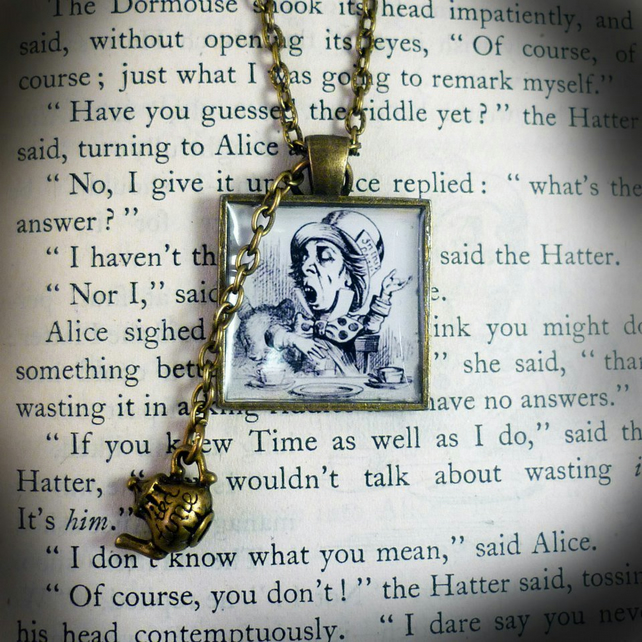 The Mad Hatter's Teatime Pendant