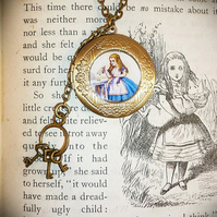 Alice's Wonderland Locket -  - (Only one pound Post and Packing on all items)