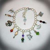 The Charms of Alice Bracelet (Only one pound Post and Packing on all items)