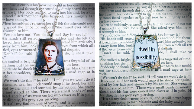 I Dwell in Possibility - Emily Dickinson  Double-sided Pendant