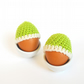 Crochet Egg Warmers in Lime Green 100% Merino Wool - Set of 2 - Made to Order