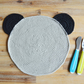 Koala Teddy Crochet Placemat - Grey 100% Cotton Crochet Children's Tableware