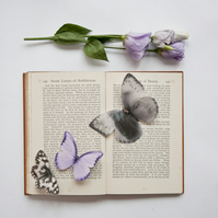 Silk Memory Butterfly personalised with the image of your choice, with Crystals.
