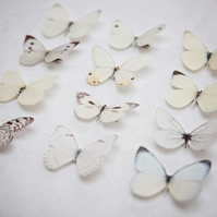 Bridal Silk Butterfly hair clips with Swarovski Crystal - Choose any 3.