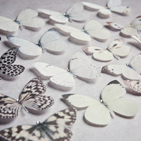 Silk Butterfly hair clips with Swarovski Crystal - Select your favourite 10!