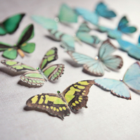 Silk Butterfly hair clips with Swarovski Crystal - Select your favourite 7!