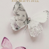 Silk Memory Butterfly personalised with the image of your choice.