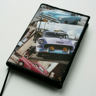 Notebook Cover, A6, Cuban Car Collage Photo
