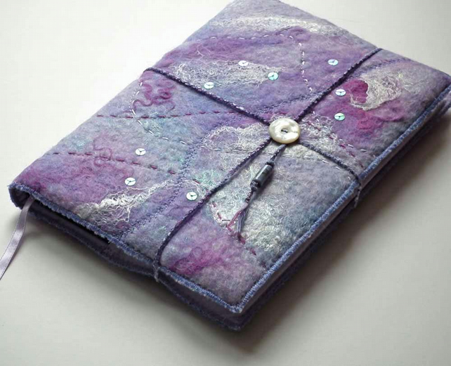 Handmade Felt Book Cover : Notebook cover handmade felt folksy