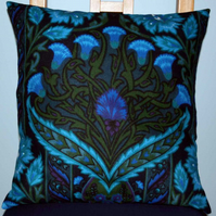 Cushion Cover, Art Nouveau Style, Arts & Crafts, Retro 70s Vintage Fabric