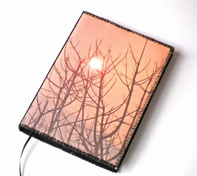 A6 Notebook Cover, Sunset Through The Dust, Photo-Art, Lined Notebook