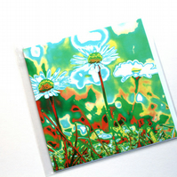 Blank Card, Greetings Card, Photo-Art, Down Among The Daisies