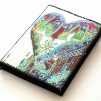Notebook Cover, A6, Groovy Love, Photo-Art, Made To Order, Valentine's Day