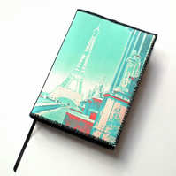 Notebook Cover, A6, Paris Eiffel Tower, Photo-Art