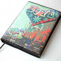 Notebook Cover, A6, Carnaby Street, Photo-Art, Made To Order, Valentine's Day