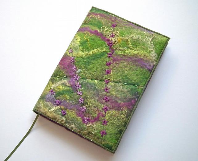 Handmade Felt Book Cover : Notebook sketchbook journal cover a handma folksy