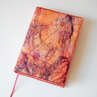 A6 Felt Notebook, Sketchbook, Journal Cover, Handmade Felt, 'Sahara'