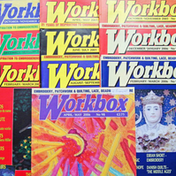 Workbox Magazines x 10, Back Issues 89-98, 2004-06, Textile Arts & Crafts