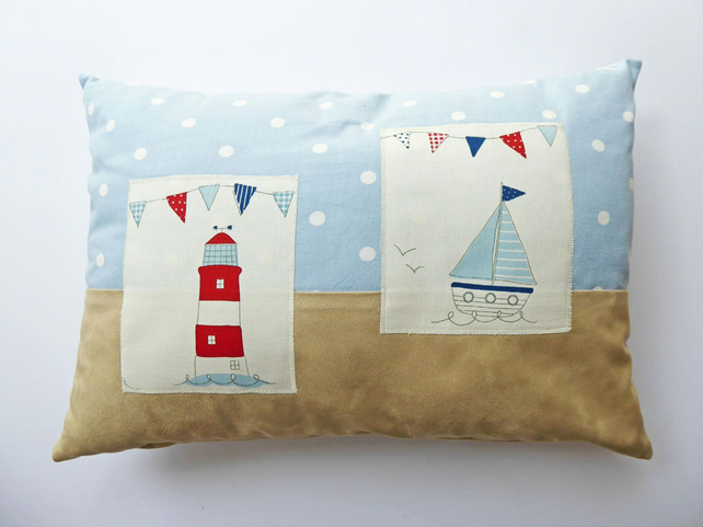 Oblong Cushion Cover, Rectangular Pillow Cover, Lumbar Pillow, Seaside Designs