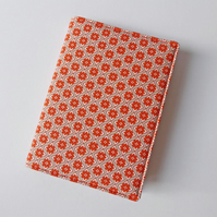 A6 Notebook Cover, Lined Notebook, Fabric Book Jacket, Removable Book Sleeve