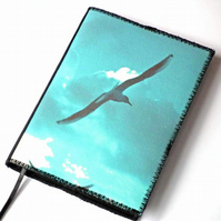 A6 Notebook Cover, Seagulls, Photo-Art, Lined Notebook