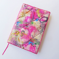 A5 Felt Journal Cover, Sketchbook or Notebook, Handmade Felt, 'Harlequin', OOAK