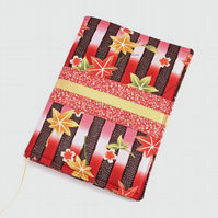 A5 'Kimono' Notebook Cover, Lined Notebook, Removable Cover, Japanese Cotton
