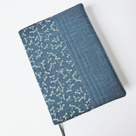 A5 Diary Cover, 2019 Diary, Dragonfly Design, Japanese Indigo-Dyed Cotton
