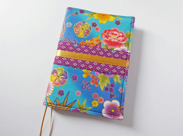 A5 Diary Cover, Planner Cover, 2019 Diary, Japanese Fabric, Kimono Style