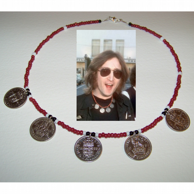 John Lennon Coin Necklace - Replica