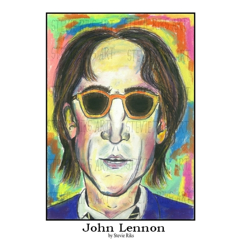John Lennon Pastel Painting  - A3 Limited Edition Print