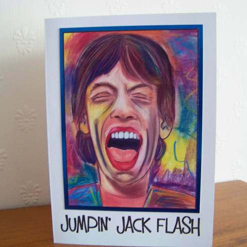 Pop Art Greeting Card - Mick Jagger - Birthday