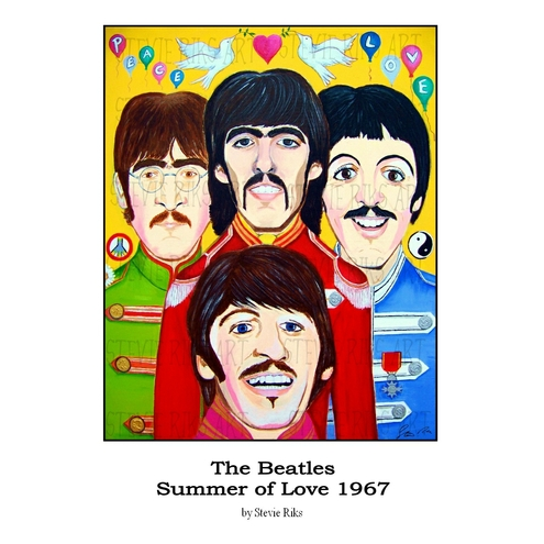 The Beatles Summer of Love 1967  - A3 Signed Limited Edition Print