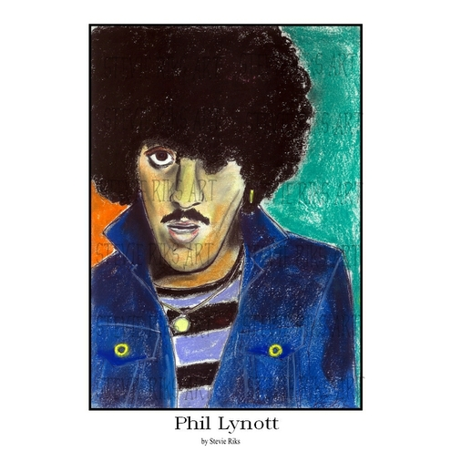 PHIL LYNOTT -  A3 Signed Limited Edition Print
